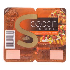 Bacon em Cubos Cozido e Defumado Sadia 140g