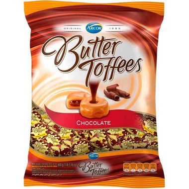 Bala Arcor Butter Toffees Chocolate 600g