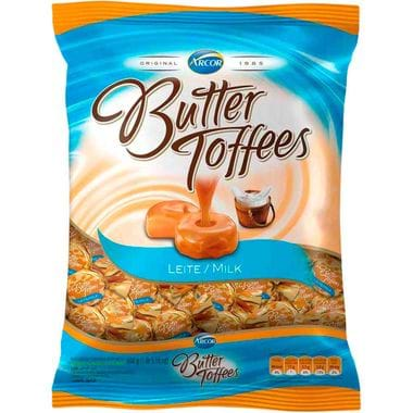 Bala Arcor Butter Toffees Leite 600g