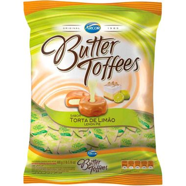 Bala Arcor Butter Toffees Limão 600g