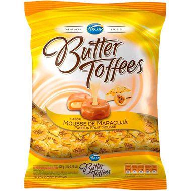 Bala Arcor Butter Toffees Maracujá 600g