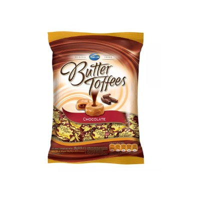 Bala Butter Toffee - Chocolate - Pacote 600g