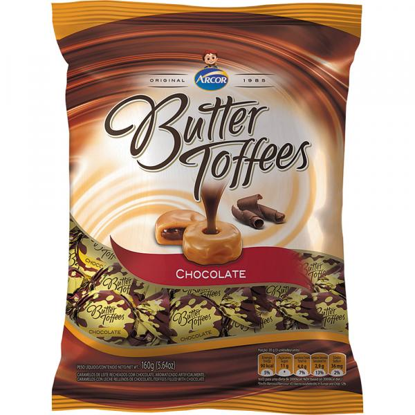 Bala Butter Toffees Arcor 130g Chocolate - Arcor