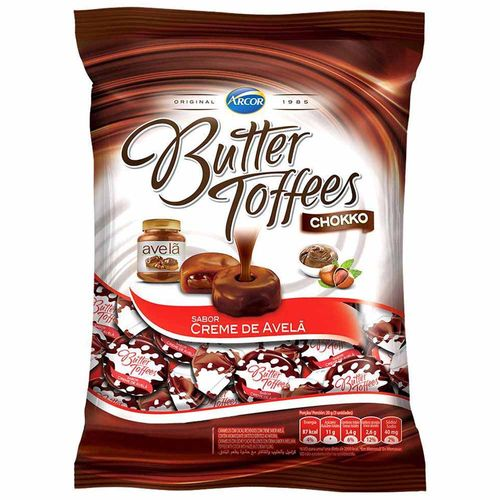Bala Butter Toffees Creme Avelã 600g - Arcor