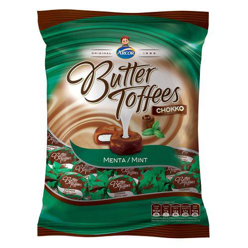 Bala Butter Toffees Chokko Menta 600g - Arcor