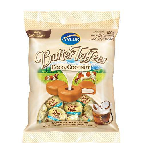 Bala Butter Toffees Coco 130g - Arcor