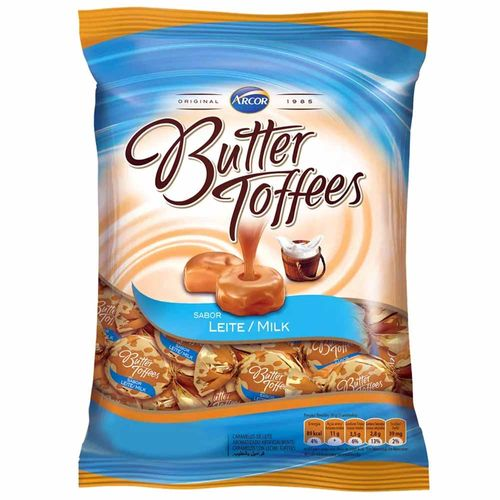 Bala Butter Toffees Leite 600g Arcor 10292