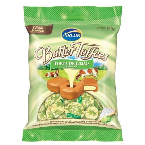 Bala Butter Toffees Torta Limao 130g - Arcor