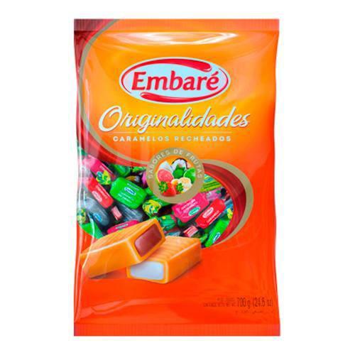 Bala Caramelo Recheado Sortido 700g Embaré