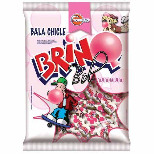 Bala Chiclete Brinq Bol Tutti-Frutti 600g Toffano 998432
