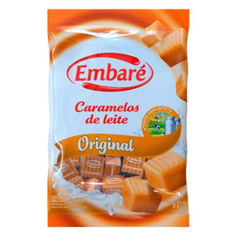 Bala de Caramelo Leite Sabor Baunilha 150g - Embaré