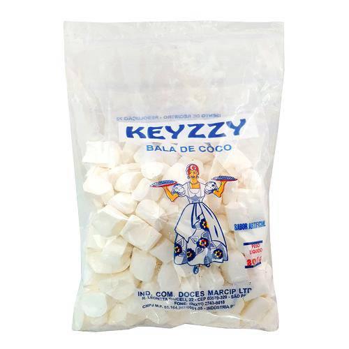 Bala de Coco Branca 800g - Keyzzy