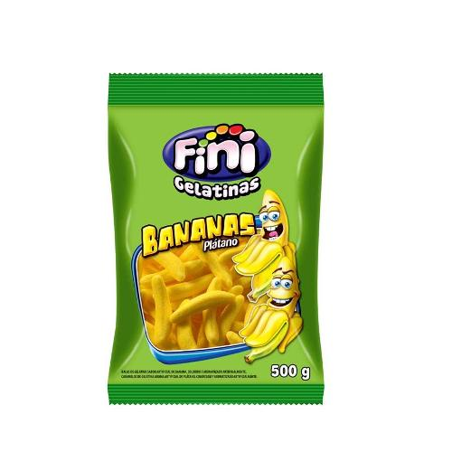 Bala de Gelatina Banana Fini