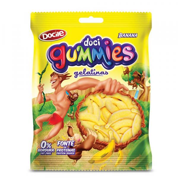 Bala de Gelatina Gummies Banana 250g - Docile