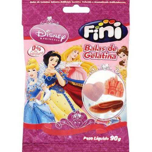 Bala de Gelatina Princesas 90g - Fini