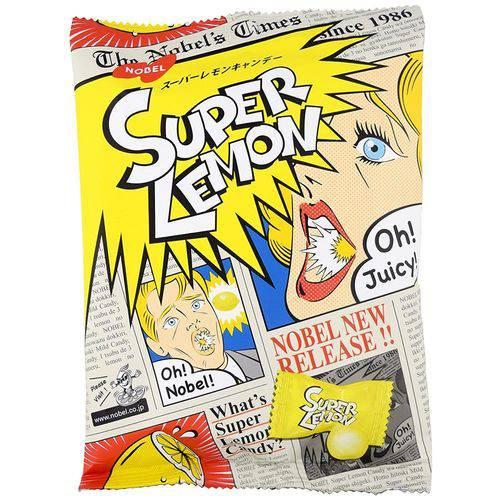 Bala de Limão Super Lemon Candy 84g - Nobel