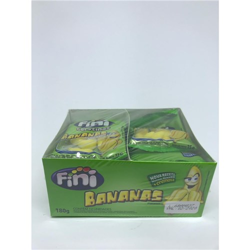 Bala Gelatina Bananas 15G C/12 - Fini