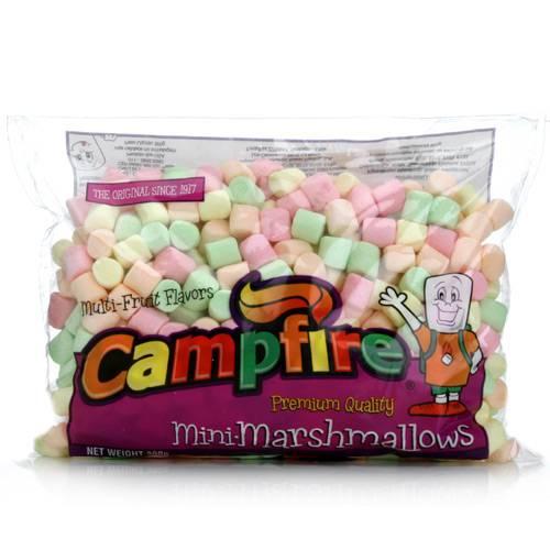Bala Mini Marshmallow Colorido 300g - Campfire