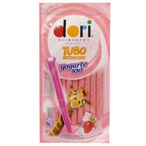 Bala Regaliz Tubo Recheado de Yogurte Ácido Dori 70g