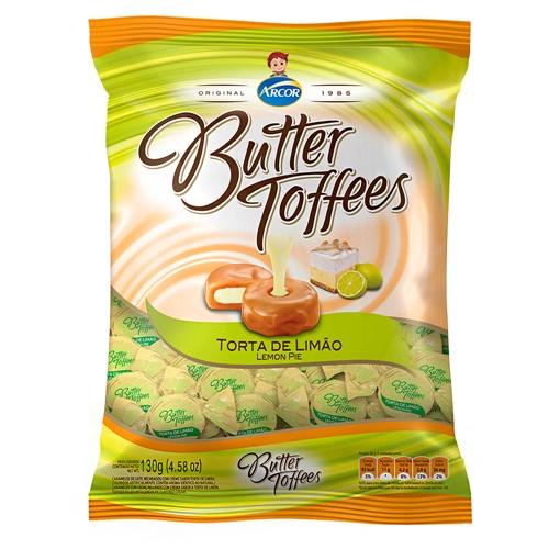 Balas Arcor Butter Toffees Sabor Torta de Limão 130g