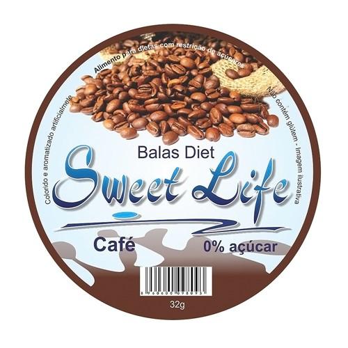 Balas Sweet Life Diet Café com 32g