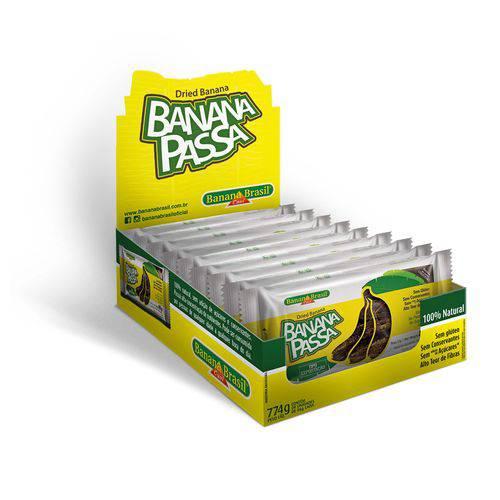 Banana Passa, Tipo Exportação. Caixa com 9 Barras de 86 G