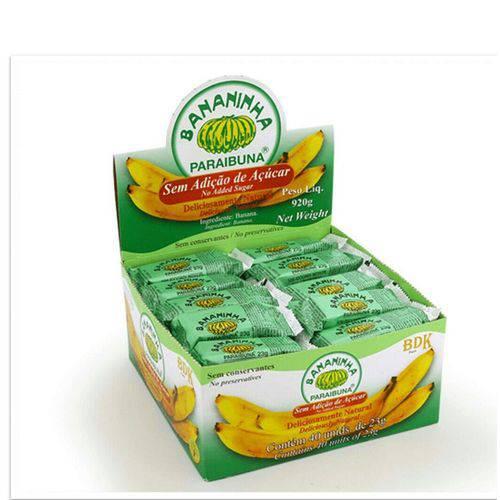 Bananinha Paraibuna Sem Açúcar 23g Cx 40 Unidades