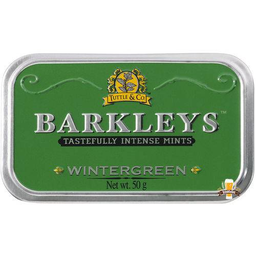 Barkleys Wintergreen - Pastilhas Sabor Menta Refrescante (50g)