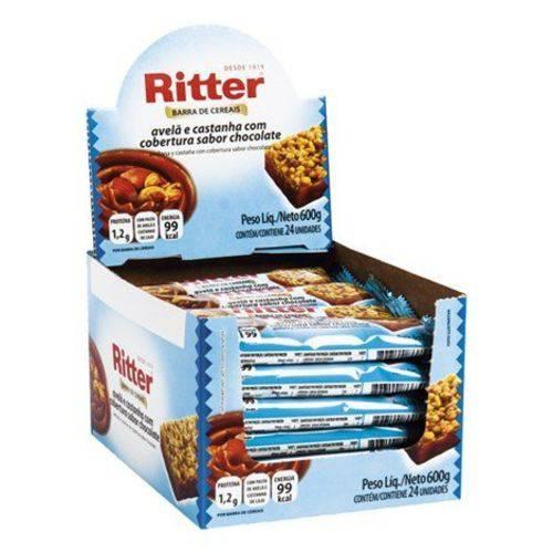 Barra Cereal Avelã/castanha/chocolate 25g 24un Ritter