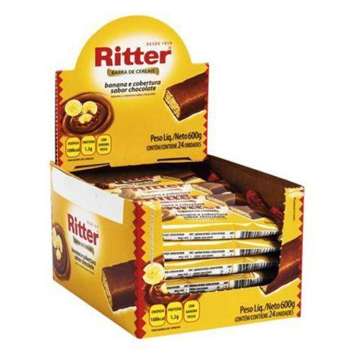 Barra Cereal Banana/chocolate 25g 24un Ritter