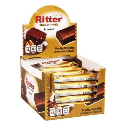 Barra Cereal Brownie Chocolate 25g 24un Ritter