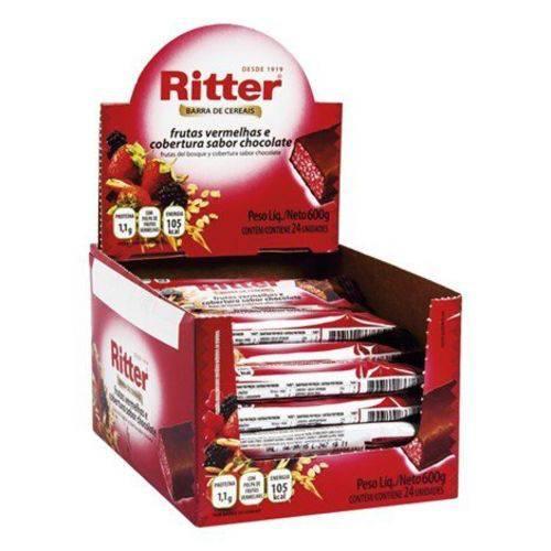 Barra Cereal Frutas Vermelhas/chocolate 25g 24un Ritter
