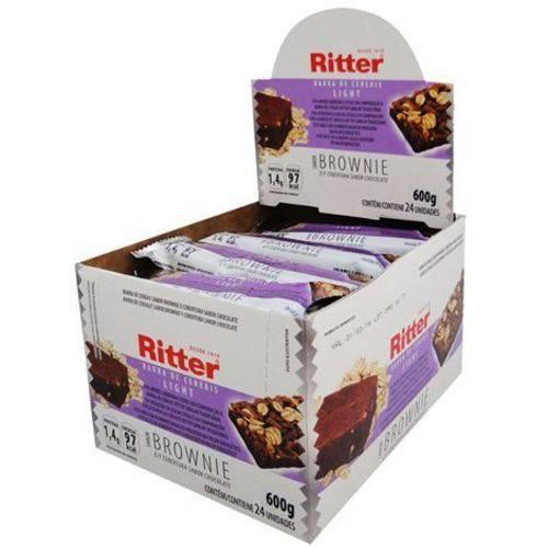 Barra Cereal Light Brownie Chocolate 25g 24un Ritter