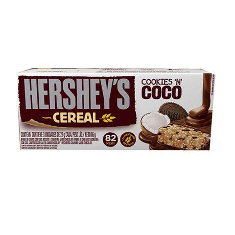 Barra Cereal Light Cookies e Coco C/3 - Hersheys