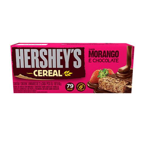 Barra Cereal Light Morango Chocolate C/3 - Hersheys