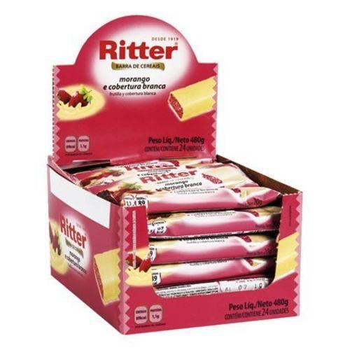 Barra Cereal Morango/chocolate Branco 20g 24un Ritter