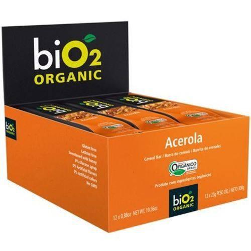 Barra Cereal Orgânico Acerola 12un X 25g Bio2