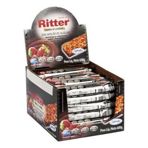 Barra Cereal Zero Açúcar Morango/chocolate 25g 24un Ritter