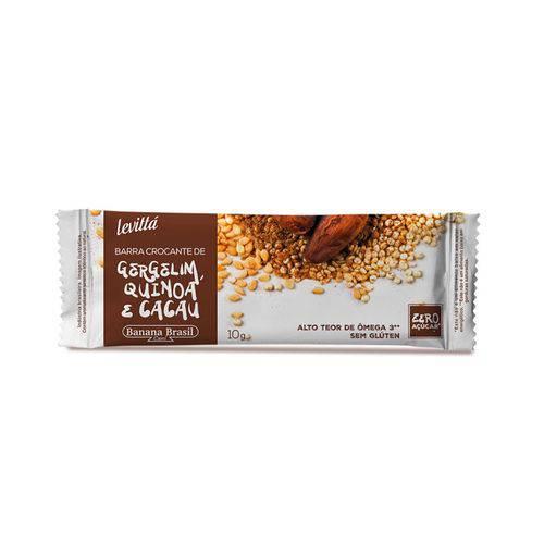 Barra Crocante de Gergelim, Quinoa e Cacau Banana Brasil Display 24x10g
