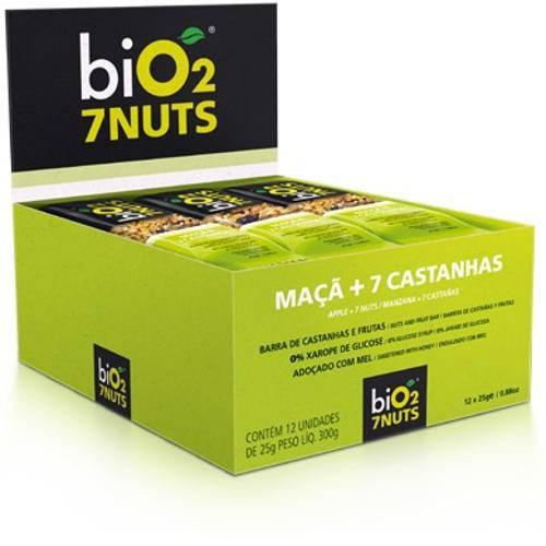 Barra de Castanhas e Frutas Bio2 7 Nuts Maçã Sem Glúten e Lactose com 12 Und.