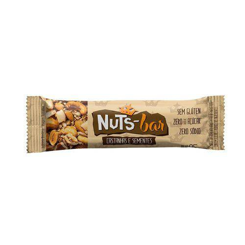 Barra de Castanhas Nuts-Bar Sementes 25g 2 Unidades