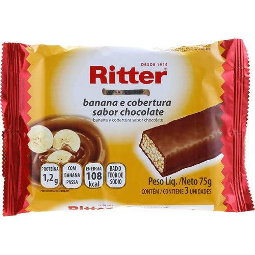 Barra de Cereais Banana e Cobertura Sabor Chocolate 75g - Ritter