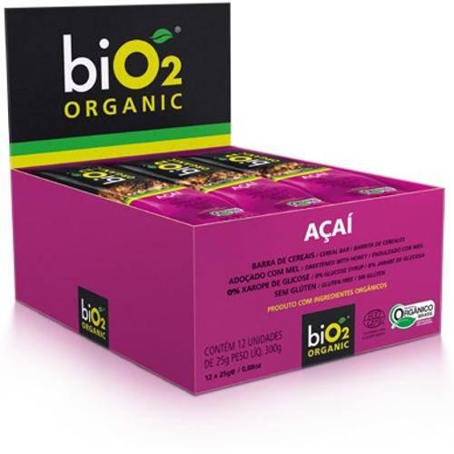 Barra de Cereais Bio2 Organic Açaí Sem Glúten e Lactose com 12 Und.