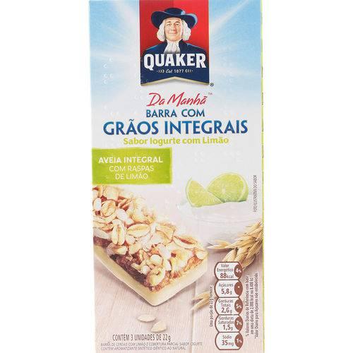Barra de Cereais Iogurte com Limão 66g - Quaker