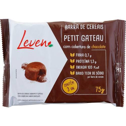 Barra de Cereais Petit Gateau com Cobertura de Chocolate 75g - Leven