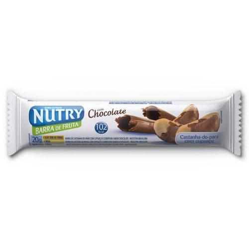 Barra de Cereais Sabor Castanha 20gr C/cobertura de Chocolate Nutry