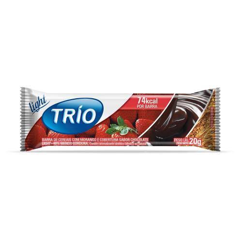 Barra de Cereais Trio Morango com Chocolate Light 1 Unidade de 20g