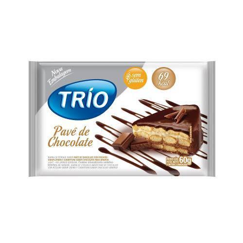 Barra de Cereais Trio Pavê de Chocolate Light 3 Unidades de 20g