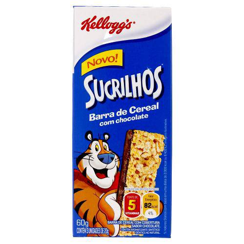 Barra de Cereal com Chocolate Sucrilhos C/12 - Kelloggs