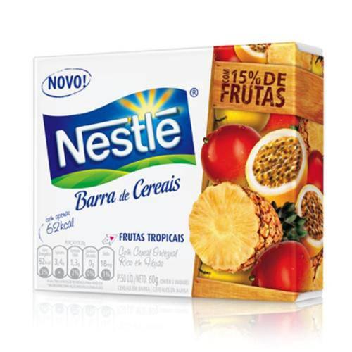 Barra de Cereal Nestlé Frutas Tropicais 3 Unidades